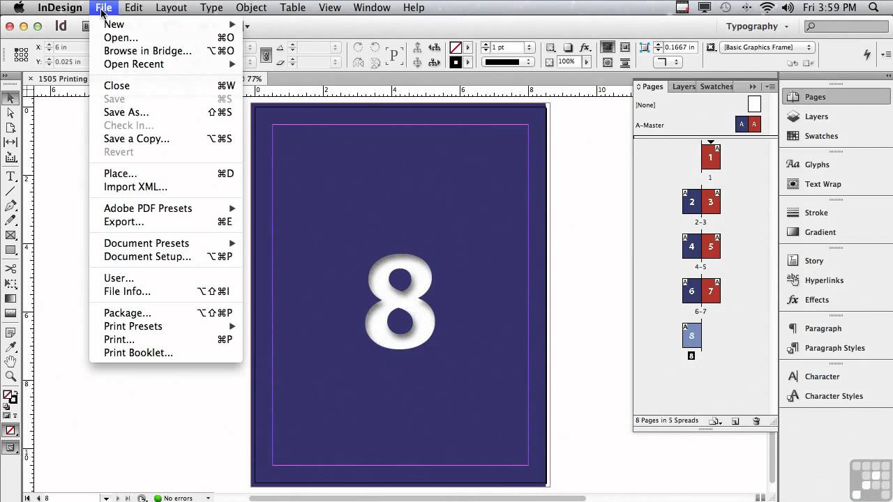 Adobe InDesign CS6 Tutorials | Printing Out Books and Booklets in InDesign  | InfiniteSkills