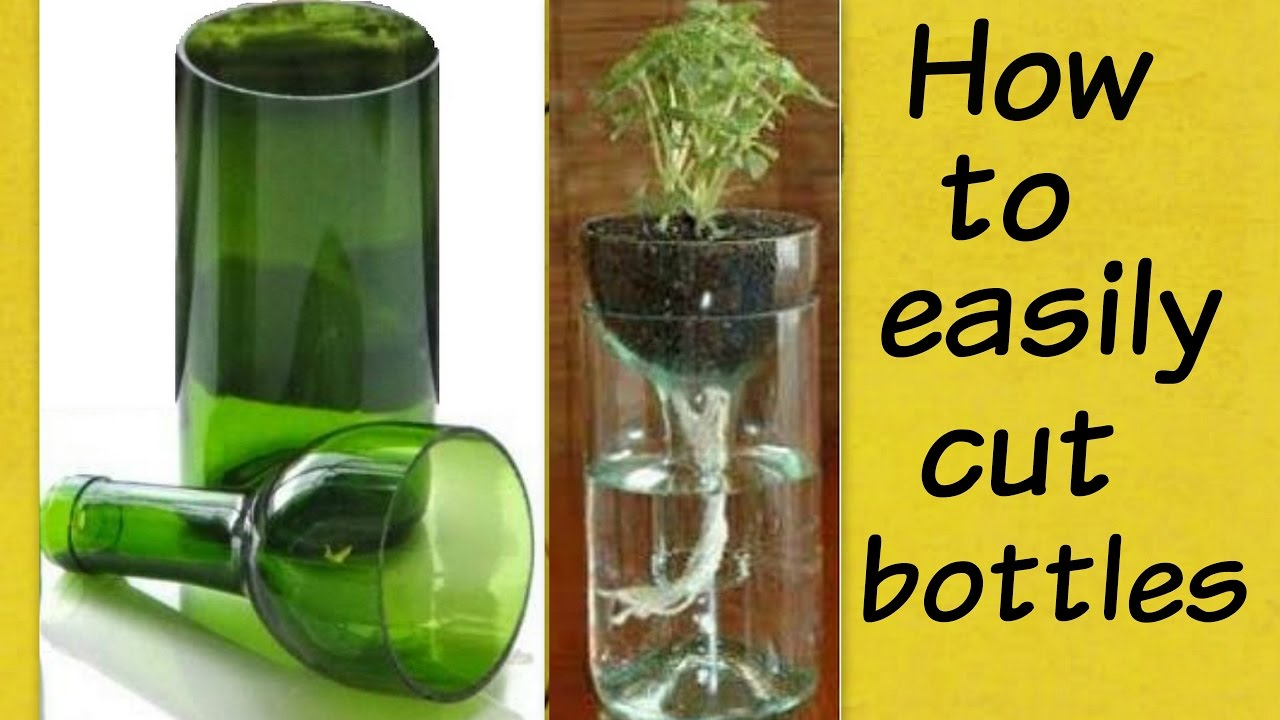 how to cut glass bottle easily at home bottle cutting