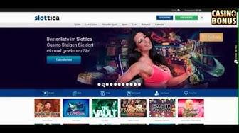 📙 Casino Test -  Slottica Casino Bonus - 50 Freispiele ohne Einzahlung holen