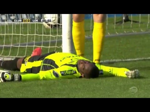 Goalkeeper knocked unconscious after hitting post  Belgium Pro League Goals & Highlights