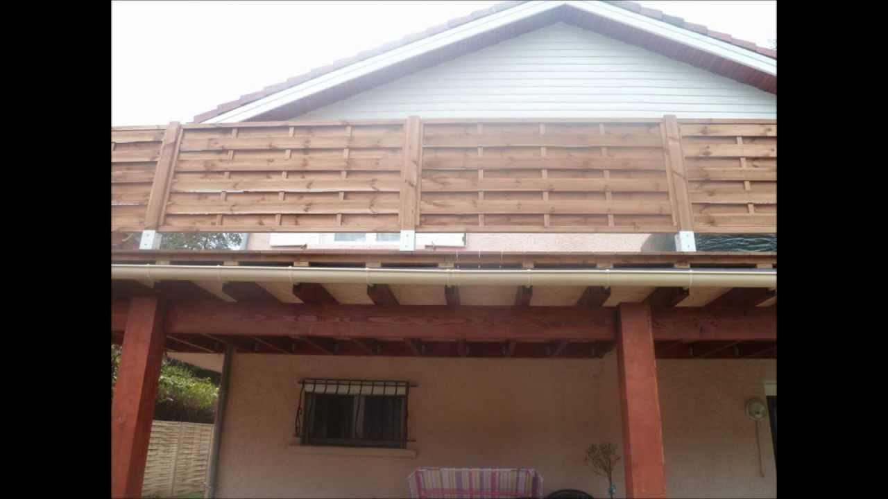 construction terrasse surelev e en bois ip youtube. Black Bedroom Furniture Sets. Home Design Ideas
