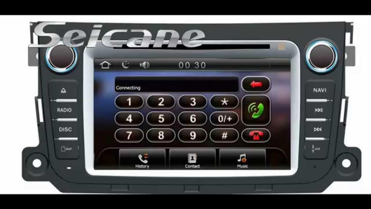 2011 2012 mercedes benz smart car tv bluetooth usb music for Mercedes benz music system
