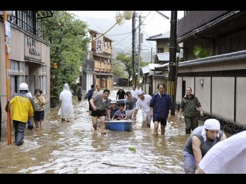 Typhoon slams Japan; two dead