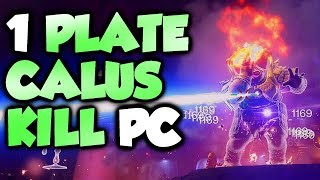 1 PLATE CALUS KILL! Destiny 2 [PC]