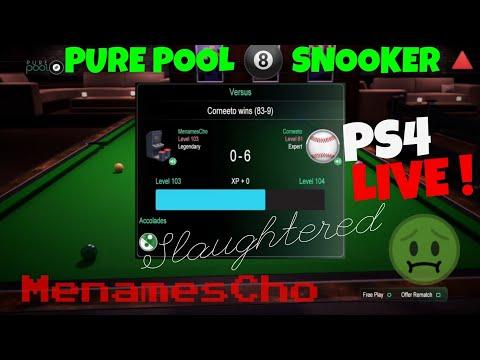 MenamesCho's Live Ps4 - Pure Pool Snooker - 9th Feb 2018 - UK