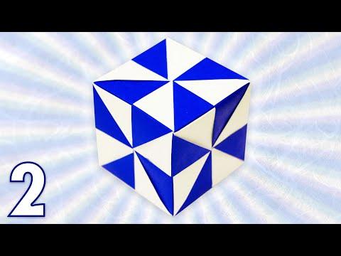 Origami Pinwheel Cube Folding Instructions Part 2 Youtube