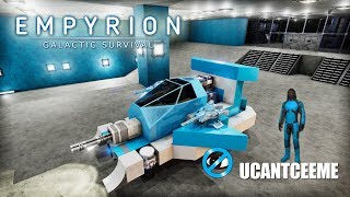 Empyrion Galactic Survival | Ep. 9 | First Hover Vessel HV Build | New Hanger Tour | Drone Hunting