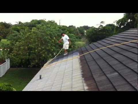 Chemical Roof Cleaning by LENZ Pressure Cleaning in West Palm Beach, Florida 2012