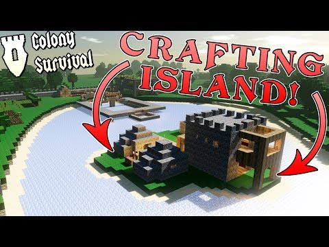 FLOATING ISLAND for CRAFTING! (Doubling in size!)- Colony Survival Gameplay Ep4