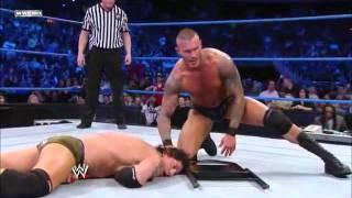 Randy Orton - Two RKO's on Wade Barrett