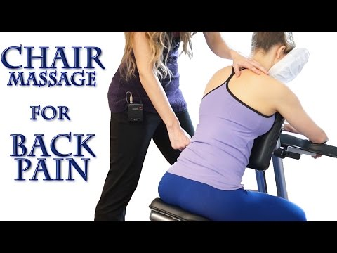 How To Chair Massage for Back Pain: Neck, Shoulders, Back, Most Relaxing Techniques ASMR