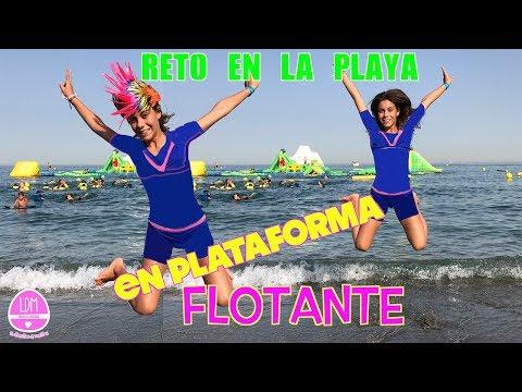 RETO EN LA PLAYA CON PLATAFORMA FLOTANTE/ RETO NINJA WARRIOR/LA DIVERSION DE MARTINA