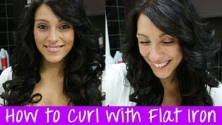 How to Curl Hair Extensions with a Flat Iron - Instant Beauty Hair Extensions