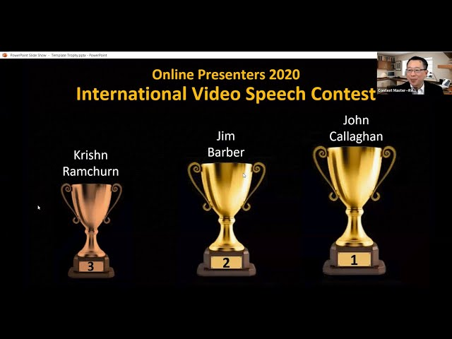 Replay - Video Speech Contest @ Online Presenters Toastmasters, March 23, 2020
