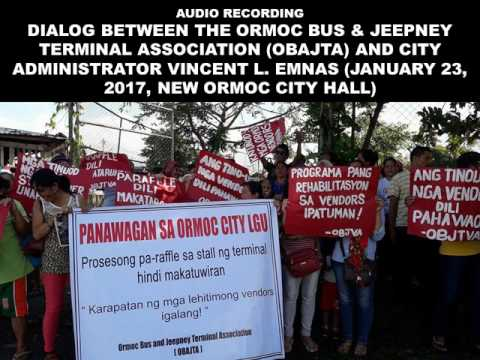 Dialog: Ormoc Bus and Jeepney Terminal Association with City Administrator