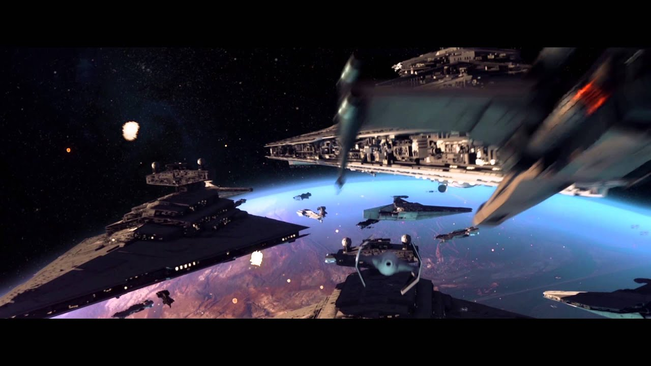 star wars space battle test - after effects, element 3d, trapcode