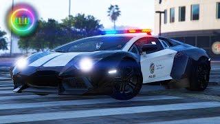 GTA 5: LSPDFR Sports Car Patrol - Lamborghini Aventador w/ Automatic Spoiler!