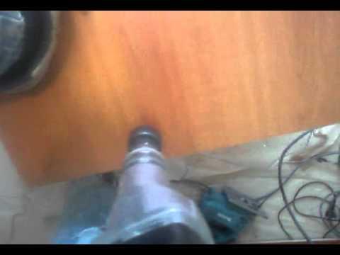 Укладка ламината вокруг трубы