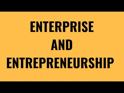 1.1 Enterprise and entrepreneurship GCSE Business Studies