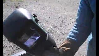 Careta de soldar automática, primera prueba