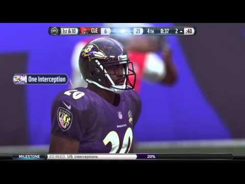 Ed Reed Intercepts Otto Graham For A Touchdown Mad