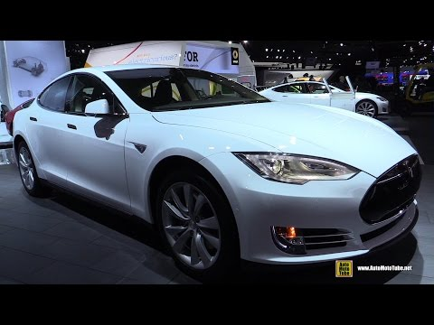 2015 Tesla Model S 60 - Exterior and Interior Walkaround - 2015 Detroit Auto Show