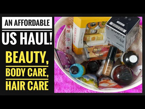My US Haul|Makeup |Haircare |Body Care |Available In India!!