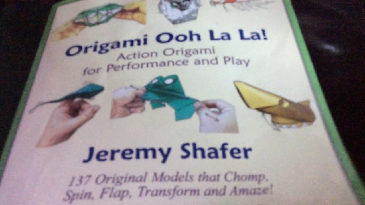 my jeremy shaffer book quot origami ooh la la youtube