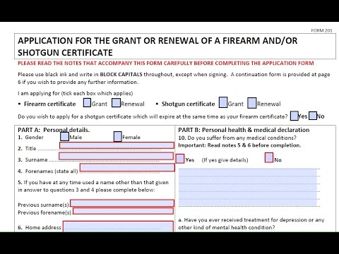 How to apply for a gun license Uk