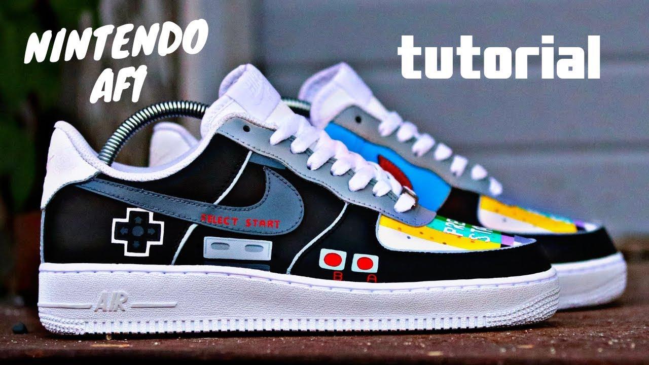 Custom Nike AF1 NINTENDO!! Tutorial