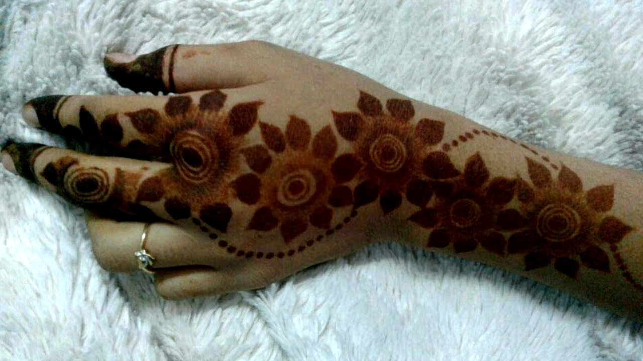 Latest Flower Mehndi Design : Trending big flower arabic mehndi designlatest easy