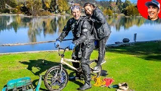Found Stolen BMX Trick Bike Underwater while River Treasure Hunting! (Scuba Diving)