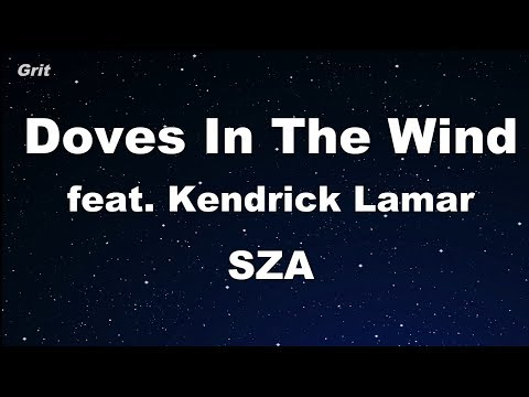 Doves In The Wind ft. Kendrick Lamar - SZA Karaoke 【No Guide Melody】 Instrumental
