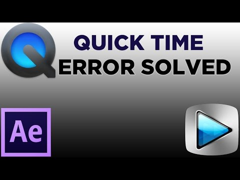 "How to solve ""Quick time is not installed in your system"" Error - After effects Error"