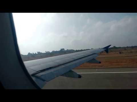 Indigo Flight Take off from Rajiv Gandhi International Airport Hyderabad