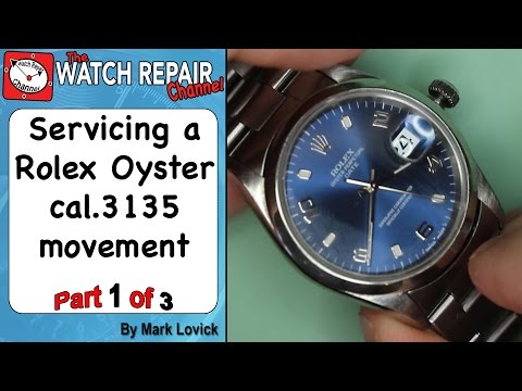 Rolex 3135 Service. Part 1. Watch Repair Tutorials.