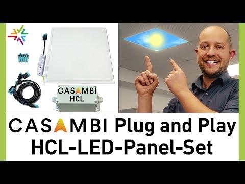 Das HCL LED Panel Plug and Play Set mit CASAMBI Steuerung - günstige HCL Beleuchtung in 4 Schritten