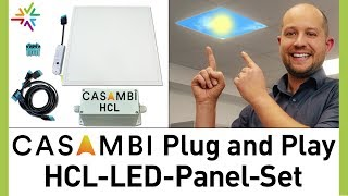 Das HCL LED Panel Plug and Play Set mit CASAMBI Steuerung – günstige HCL Beleuchtung in 4 Schritten