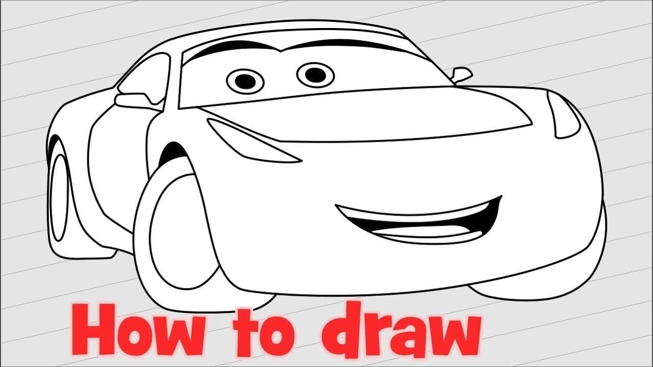 How To Draw Cars 3 Characters Cruz Ramirez Youtube