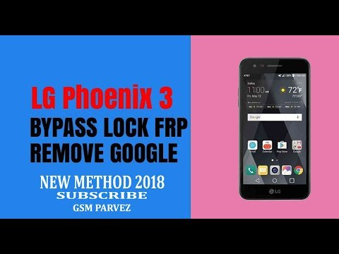 bypass google account lg phoenix 3 M150 2018 new mathod