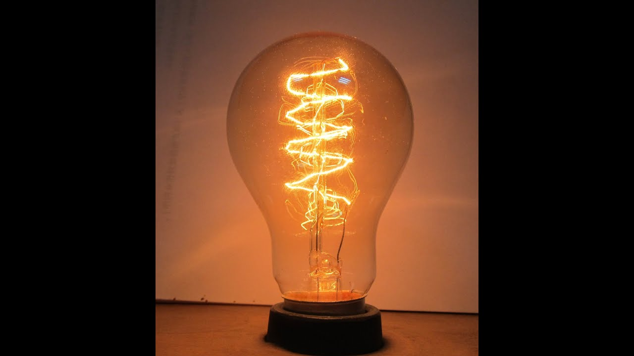 Mi primera bombilla casera youtube Tungsten light bulbs