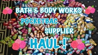 HUGE (I mean HUGE) Bath & Body Works pocketbac HAUL !