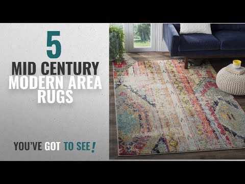 Top 10 Mid Century Modern Area Rugs [2018 ]: Safavieh Monaco Collection MNC222F Modern Bohemian