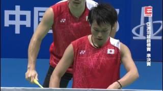 Li Junhui/Liu Yuchen vs Takeshi Kamura/Keigo Sonoda - 2017 Badminton Asia Championships MD SF [HD]