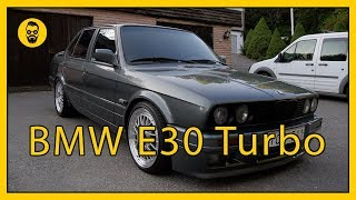 BMW E30 Turbo en laglig fyrdörrars sleeper