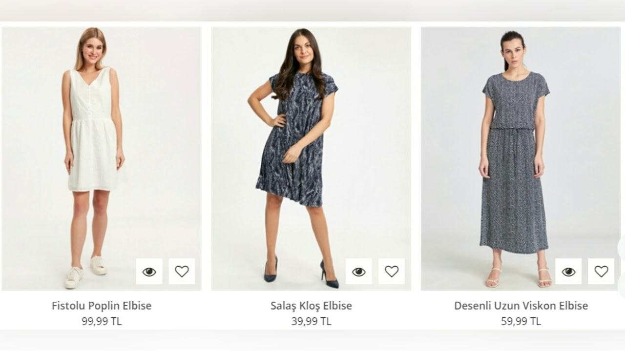 d4f090a9a4532 Lc Waikiki Kadın Elbise Modelleri ve Fiyatları - YouTube