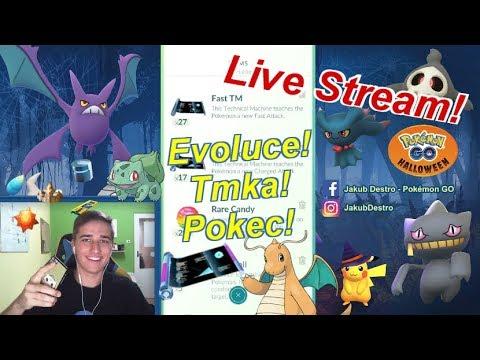 Pokémon GO Live Stream - Evoluce Dragonita! TMka! Pokec :) Čekání na Halloween! | JakubDestro