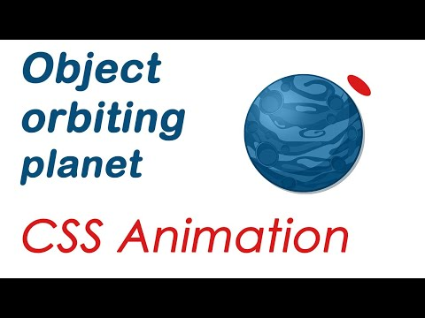 CSS & HTML Object Orbiting Planet Animation