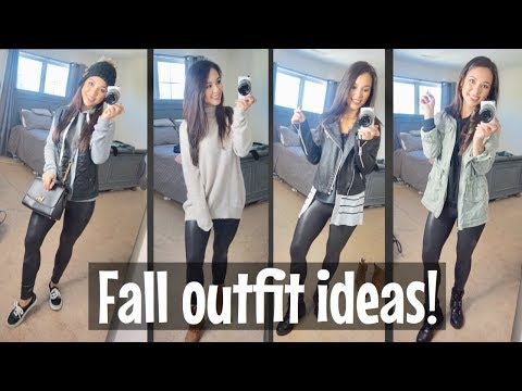 How I Style My Spanx Leather Leggings| Fall Outfit Ideas| Spanx legging DUPE!