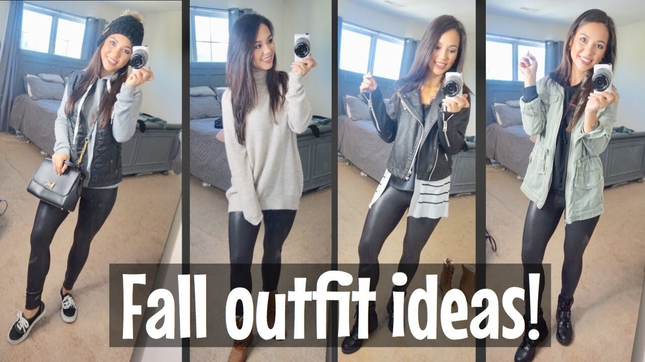 [VIDEO] - How I Style My Spanx Leather Leggings| Fall Outfit Ideas| Spanx legging DUPE! 7